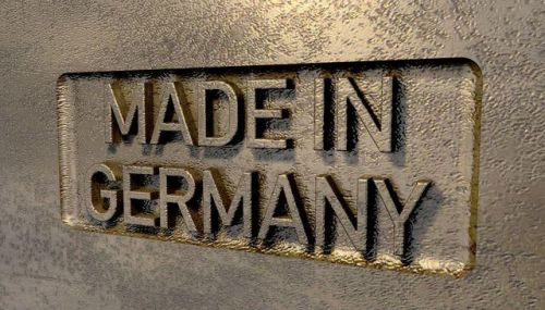 Bronzeschild Made in Germany